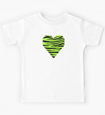 0298 Green-Yellow Tiger Kids Tee