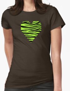 0298 Green-Yellow Tiger Womens Fitted T-Shirt