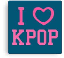 I HEART KPOP - BLUE Canvas Print