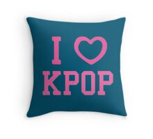 I HEART KPOP - BLUE Throw Pillow