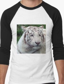 White Tiger Men's Baseball ¾ T-Shirt