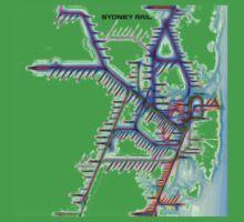 Sydney City Rail Map Baby Tee