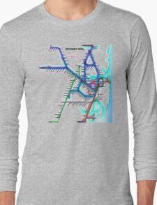 Sydney City Rail Map Long Sleeve T-Shirt