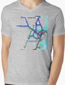 Sydney City Rail Map Mens V-Neck T-Shirt