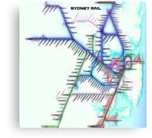Sydney City Rail Map Canvas Print