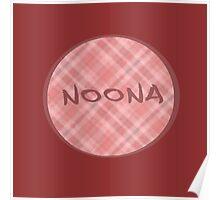 NOONA CIRCLE - PINK PLAID Poster