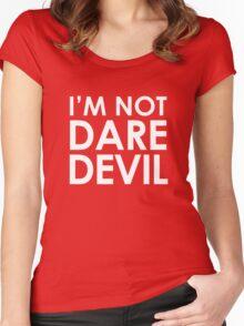 I'm Not Daredevil – Matt Murdock, Cosplay, Christmas Women's Fitted Scoop T-Shirt