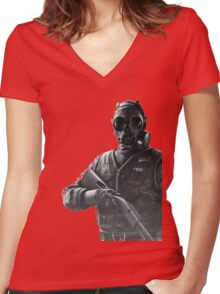 Rainbow Six Siege *Tahtcher* Women's Fitted V-Neck T-Shirt
