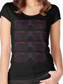 LED Arduino Eyeglasses Women's Fitted Scoop T-Shirt