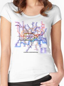 London Underground Tube Women's Fitted Scoop T-Shirt