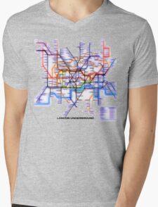London Underground Tube Mens V-Neck T-Shirt