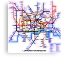 London Underground Tube Canvas Print