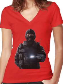 Rainbow Six Siege *Twitch* Women's Fitted V-Neck T-Shirt