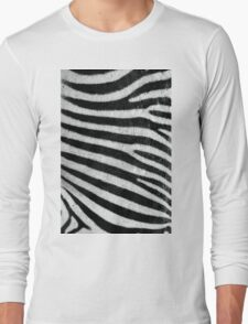 Zebra Style Long Sleeve T-Shirt