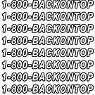 1 800 BACKONTOP by rolypolynicoley