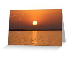 Louisiana Sunset Greeting Card