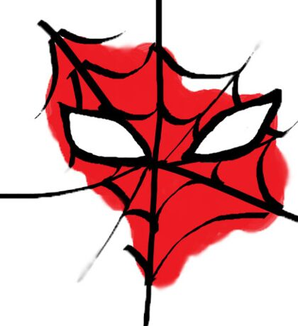 Spiderman's mask Sticker