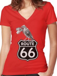 keys to Route 66 Women's Fitted V-Neck T-Shirt