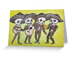 Mariachi Calacas Greeting Card