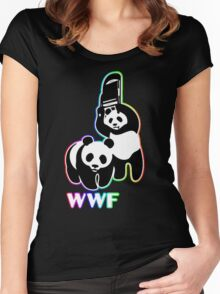 WWF (Behind The Scene) Colored Women's Fitted Scoop T-Shirt