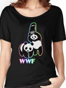 WWF (Behind The Scene) Colored Women's Relaxed Fit T-Shirt