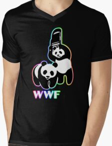 WWF (Behind The Scene) Colored Mens V-Neck T-Shirt