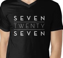 Seven Twenty Seven - 727 (White) Mens V-Neck T-Shirt