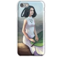Snowdrop - Fantasy Woman In Spring Forest iPhone Case/Skin
