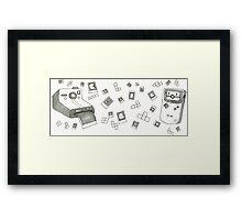 Pixels and Polaroids Framed Print