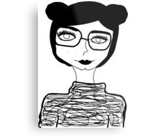 Sophisticated Little Lady  Metal Print