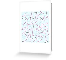 Bobby Pins Greeting Card