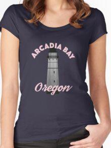 Arcadia Bay, Oregon – Chloe Price, Life Is Strange Women's Fitted Scoop T-Shirt
