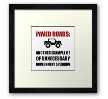 Paved Roads Framed Print