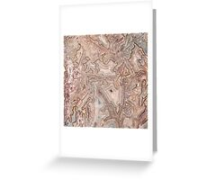 Crazy Lace Agate Mineral Greeting Card