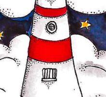 The Stormy Lighthouse Sticker