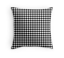 Black and White Scallop Repeat Pattern Throw Pillow