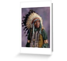 Colorized American Indian Chief  Greeting Card