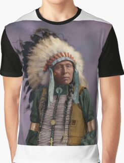 Colorized American Indian Chief  Graphic T-Shirt