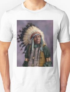Colorized American Indian Chief  Unisex T-Shirt