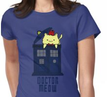 doctor meow - doodle Womens Fitted T-Shirt