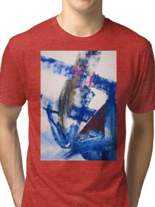 One today is worth two tomorrow - Original Wall Modern Abstract Art Painting Original mixed media Tri-blend T-Shirt