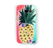 Pineapple Leia Tropical Art Print | by Crystal Walen Samsung Galaxy Case/Skin