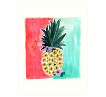 Pineapple Leia Tropical Art Print | by Crystal Walen Art Print