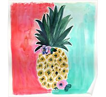 Pineapple Leia Tropical Art Print | by Crystal Walen Poster