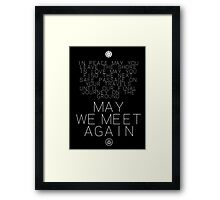 May We Meet Again Constellation Framed Print