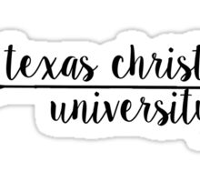 Texas Christian University Sticker