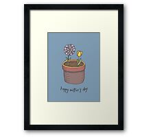 Happy Mother's Day Flowers Framed Print