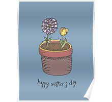 Happy Mother's Day Flowers Poster
