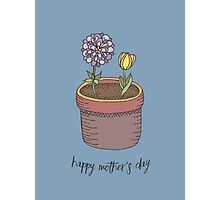 Happy Mother's Day Flowers Photographic Print