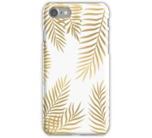 Gold palm leaves iPhone Case/Skin
